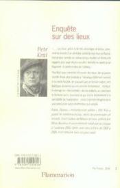 Enquete Sur Des Lieux. - Couverture - Format classique