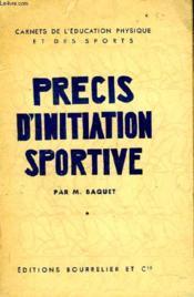 PRECIS D'INITIATION SPORTIVE - 2e EDITION - Couverture - Format classique