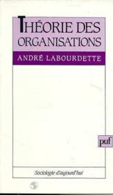 Theorie des organisations - Couverture - Format classique