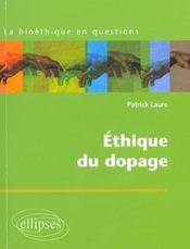 Ethique Du Dopage - Intérieur - Format classique