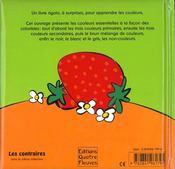 Les couleurs - 4ème de couverture - Format classique
