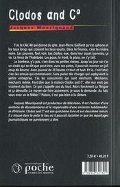 Clodos and c - 4ème de couverture - Format classique