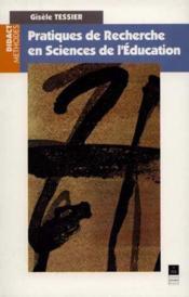 Pratiques de recherche en sciences de l'éducation - Couverture - Format classique