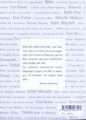 216 Chansons Du 20eme Siecle - 4ème de couverture - Format classique