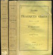ETUDES SUR LES TRAGIQUES GRECS par H. PATIN. EURIPIDE, TOMES I ET II. - Couverture - Format classique