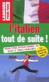 L'Italien Tout De Suite - Intérieur - Format classique