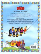 Dumbo, Album Stickers - 4ème de couverture - Format classique
