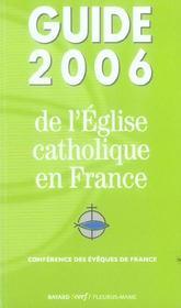 Guide 2006 De L'Eglise Catholique En France - Intérieur - Format classique