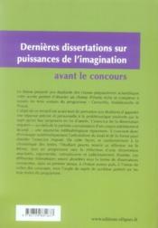 Puissances de l'imagination t.2 ; malebranche, cervantès, proust - 4ème de couverture - Format classique