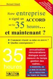 Entreprise signe accord sr 35h - Couverture - Format classique