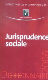 Jurisprudence Sociale - Intérieur - Format classique