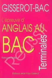 Anglais au bac (l'epreuve) - Couverture - Format classique