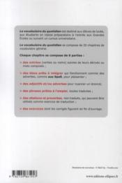 Allemand ; le vocabulaire du quotidien avec exercices corrigés - 4ème de couverture - Format classique