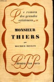 Monsieur Thiers - Couverture - Format classique