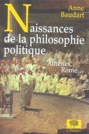 Naissances de la philosophie politique - Intérieur - Format classique