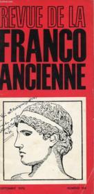 Revue De La Franco Ancienne N°168 - Couverture - Format classique