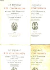 Les Confessions Suivies Des Reveries D'Un Promeneur Solidaire En 4 Tomes Complets - Couverture - Format classique