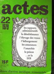 Actes N°22 - Couverture - Format classique