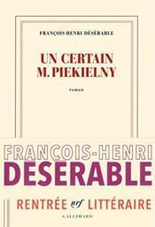 Un certain M. Piekielny - Couverture - Format classique