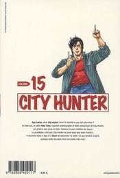 City Hunter T.15 - 4ème de couverture - Format classique