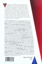 Normativite Et Biomedecine - 4ème de couverture - Format classique
