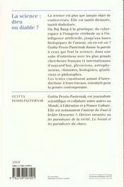 Sciences Dieu Ou Diable - 4ème de couverture - Format classique