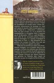 La Fabuleuse Evasion Du Petit Bouddha - 4ème de couverture - Format classique