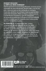 La Bete Au Bois Dormant - 4ème de couverture - Format classique