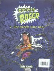 Cosmik Roger t.4 ; les rendes-vous des anneaux - 4ème de couverture - Format classique