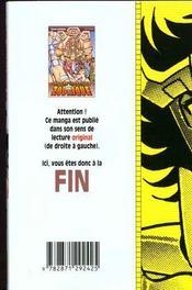Les chevaliers du zodiaque t.17 - 4ème de couverture - Format classique