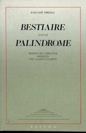 Bestiaire palindrome - Couverture - Format classique