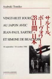 28 jours au japon avec jean-paul sartre et simone de beauvoir - Couverture - Format classique
