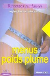 Menus poids plume - Intérieur - Format classique