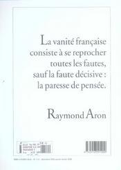 Revue Commentaire N.112 - 4ème de couverture - Format classique