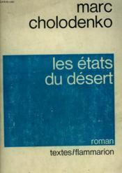Les Etats Du Desert. - Couverture - Format classique