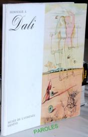 Hommage à Dali. - Couverture - Format classique