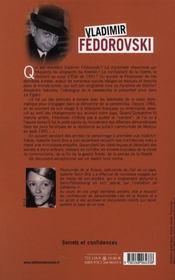 Vladimir Fedorovski ; secrets et confidences - 4ème de couverture - Format classique
