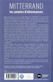 Mitterrand ; les années d'alternance - 4ème de couverture - Format classique