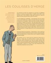 Dans les coulisses d'Hergé - 4ème de couverture - Format classique