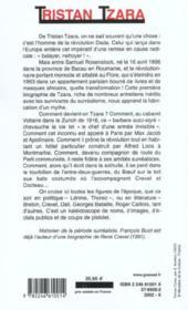 Tristan tzara - Couverture - Format classique