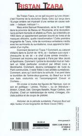 Tristan tzara - 4ème de couverture - Format classique