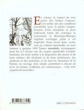 Dictionnaire De Botanique - 4ème de couverture - Format classique