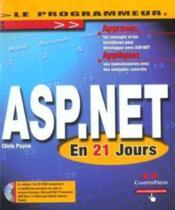Le Programmeur Asp.Net En 21 Jours - Couverture - Format classique