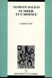 Soleil Et L'Absence - Couverture - Format classique