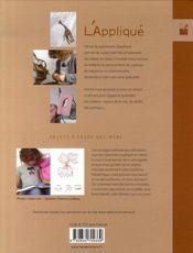 L'appliqué ; déco d'enfants, accessoires, vêtements - 4ème de couverture - Format classique
