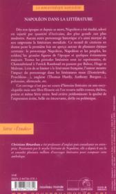 Napoleon dans la litterature - 4ème de couverture - Format classique