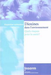 Dioxines dans l'environnement ; quels risques pour la santé ? - Couverture - Format classique