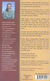 Une soir d'infini ; Elisabeth de la Trinité, sa vie, son visage - 4ème de couverture - Format classique