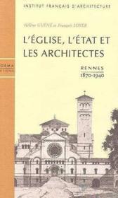 Eglise,L'Etat Et Les Architectes (L') - Couverture - Format classique