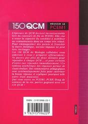 Biologie Cellulaire Reussir Le Pcem1 - 4ème de couverture - Format classique